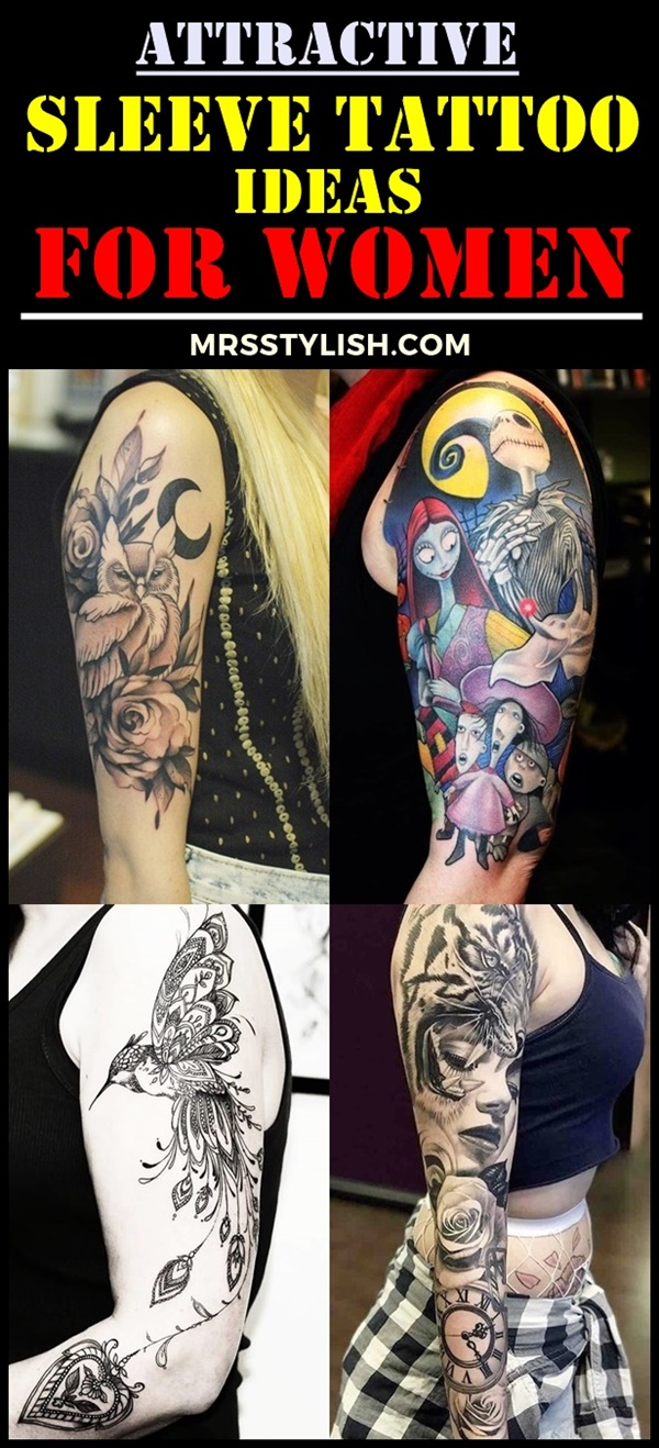 Attractive Sleeve Tattoo Ideas For Women