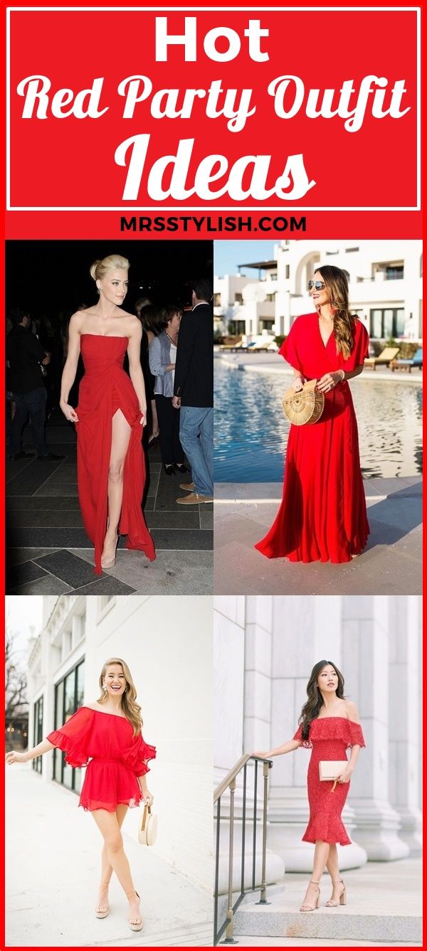 Hot Red Party Outfit Ideas
