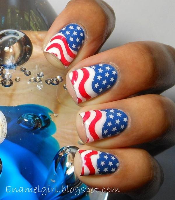 Patriotic 4th of July Nail Arts Ideas